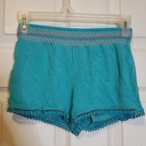 Girls/ Teal/ Crochet/ Short's/ 7-8
